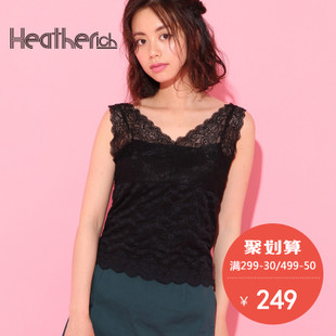 collectpoint Heatherich日系无袖蕾丝上衣内搭吊带女修身767130