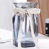 欧式创意大号玻璃花瓶水培植物绿萝富贵竹插花瓶客厅装 饰台面摆件