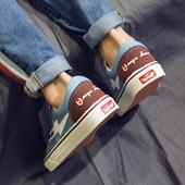 帆布鞋男夏季韩版潮流ulzzang百搭低帮板鞋男学生透气鞋子男潮鞋