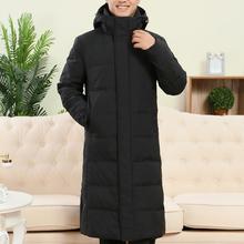 冬装羽绒服70岁60中老年人男装过膝长款加厚冬季外套男80老人大衣