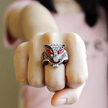 时尚 迷你韩版 狐狸戒指表女学生翻盖小表个性 戒指手表男夜光指环表