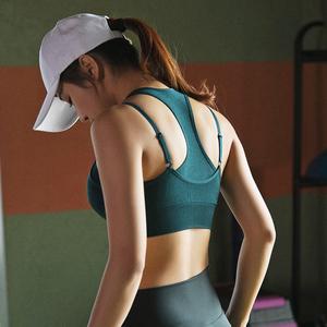 高强度防震运动内衣女跑步背心瑜伽健身文胸罩聚拢定型防下垂bra