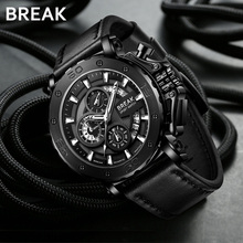 Break new multi-functional large dial men's watches waterproofing hegemony trend leisure mechanical style men's watches