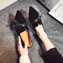 尖头平底鞋女韩版百搭春季2019新款女鞋网红瓢鞋学生鞋子浅口单鞋