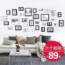 景宇 31框简约现代客厅照片墙装饰相框墙欧式创意挂墙组合相片墙