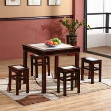 实木中式快餐桌饭店4人桌椅组合餐饮面馆饭桌甜品奶茶小吃店桌椅