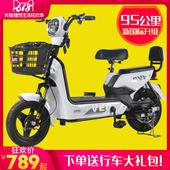 加州豹电动车新款国标成人电动自行车48v男小型代步助力电瓶车女