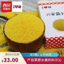 西贝莜面村兴安盟黄小米粥米490g 2盒新米月子米粗粮五谷杂粮