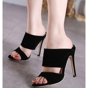 High-heeled slippers hollow sandals Roman sexy women's shoes