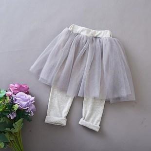 点点日式连身波点小童安全收腰连衣裙女童裙裤简约新款绣花运动