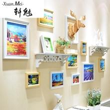 轩魅欧式照片墙 置物架相框墙小客厅创意家居相片墙 挂墙组合个性