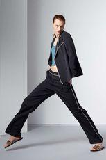 帅到没朋友!今年流行睡衣风 TIB拼色设计时尚有腔调的西装长裤