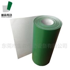 PVC绿色白色轻型平面流水线工业皮带爬坡提升机运输输送带平皮带