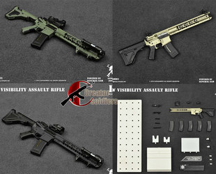 1:6 兵人 ES Low Visibility Assault Rifle lvoa武器模型 现货