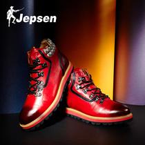 吉普森 真皮潮鞋 欧美流行男鞋 休闲高帮鞋 高帮工装 W4243 子男