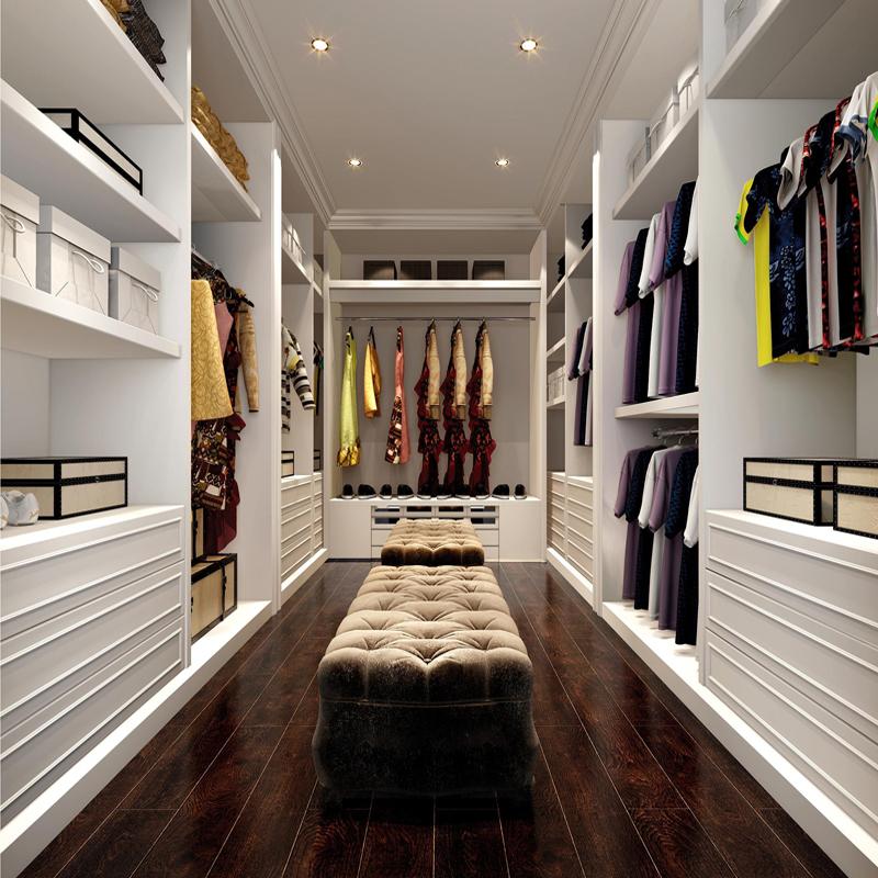衣帽间定制整体实木衣柜定做开放式衣帽间现代简约欧式定制小户型