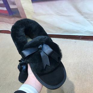 撤柜断码冬季时尚短筒雪地靴女韩版百搭学生加绒保暖面包毛毛棉鞋
