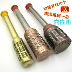 艾灸棒古铜特大号温灸棒艾草艾条盒纯铜家用全身随身灸仪器具连体