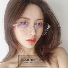 李小璐王柳雯同款防辐射蓝光装饰近视平光镜女大框透明眼镜男墨镜