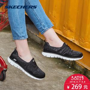 Skechers/斯凯奇秋季软底女鞋 时尚豹纹网纱懒人鞋一脚套 11962时尚女鞋