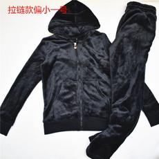 外贸yuan日系优质法兰绒客供有帽滑软女士家居套装 睡衣睡裤包邮