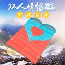 喜马拉雅情侣双人睡袋成人室内户外冬季加厚保暖露营旅行隔脏睡袋