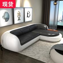 真皮沙发头层牛皮客厅转角现代简约小户型轻奢皮沙发组合整装家具