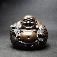 纯铜弥勒佛像家居房间汽车载装饰品摆件设创意工艺礼品招财保平安