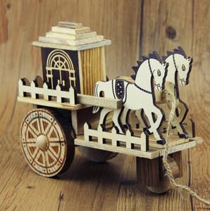 <span class=H>木制</span>仿古音乐<span class=H>马车</span>马拉轿车创意音乐盒<span class=H>木制</span>工艺品摆件儿童玩具