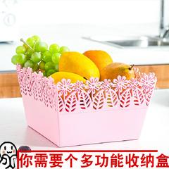 水果盘家用客厅水果篮桌面塑料杂物收纳盒子厨房置物篮零食收纳筐