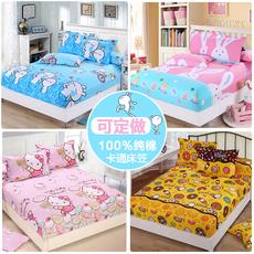 单件全棉儿童卡通1.2m防滑床笠床罩纯棉1.5米1.8薄棕垫保护套定做