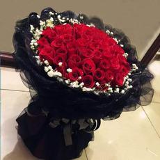 99朵红玫瑰鲜花圣诞节上海鲜花白粉玫瑰同城速递生日求婚祝福
