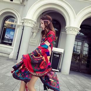品牌新款特卖防晒披肩女防紫外线骑车夏季异域民族风棉麻围巾女