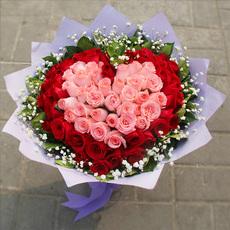 66朵红玫瑰北京鲜花同城速递南京订花天津送花成都鲜花快递哈尔滨