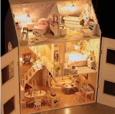 DIY小屋 超大型恶作剧之吻【梦想家园】带灯别墅木屋模型手工礼物