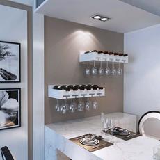 特价宜家实木红酒架壁挂酒柜展示架创意酒杯架墙上搁板装饰置物架