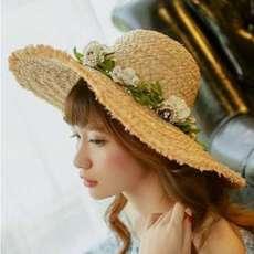 【拉菲魅惑】时髦春夏草帽女士遮阳帽拉菲草防晒帽时尚进口帽