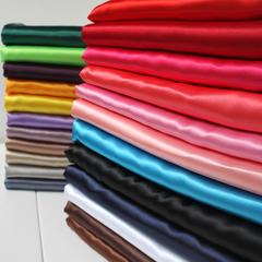 半米价 色丁布布料 仿真丝面料 服装里衬布 婚庆装饰布 八枚缎
