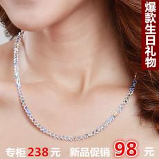正品专柜 水晶项链女锁骨 进口劲链装饰女短款锁骨项链 生日