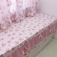 飘窗垫 窗台垫订做卧室高密海绵垫子田园公主阳台垫纯棉布艺 定做