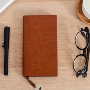 A6商务创意软皮面记事本可定做笔记本子复古吊坠记事本可定制logo
