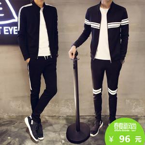 2017新款春季男士卫衣套装青少年韩版潮学生休闲薄款运动外套春装上衣外套男