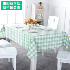 格子桌布布艺餐桌布客厅茶几布酒店餐厅台布田园格子布长方形定做