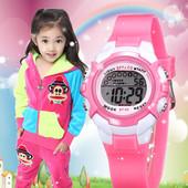 儿童手表女孩防水夜光小学生小女孩手表多功能运动电子表女童手表
