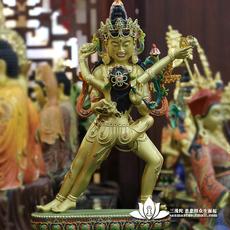 三漫陀 台湾密宗双修双身欢喜佛 纯铜手工彩绘佛像摆件 藏传佛教