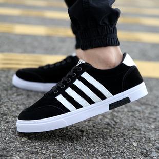 新款春秋男士帆布鞋透气低帮系带男鞋韩版潮鞋校园风学生男板鞋子