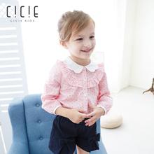 女童衬衫衬衣 cicie儿童宝宝童装春装新款长袖波点 儿童娃娃衫