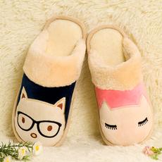 冬季棉拖鞋情侣居家居防滑厚底地板冬天可爱月子保暖毛毛拖鞋男女