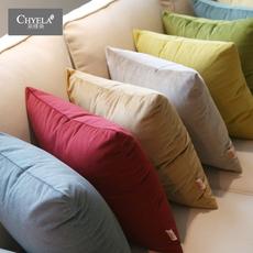 纯色超柔布艺短绒抱枕套子北欧沙发靠垫办公室汽车抱枕靠垫椅靠枕