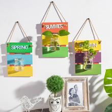 饰品植物花瓶壁挂组合墙上挂件家居壁饰客厅电视背景墙挂饰 墙面装